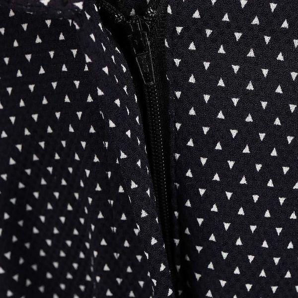 Černé elegantní kalhoty se vzorem Alchymi Castor5