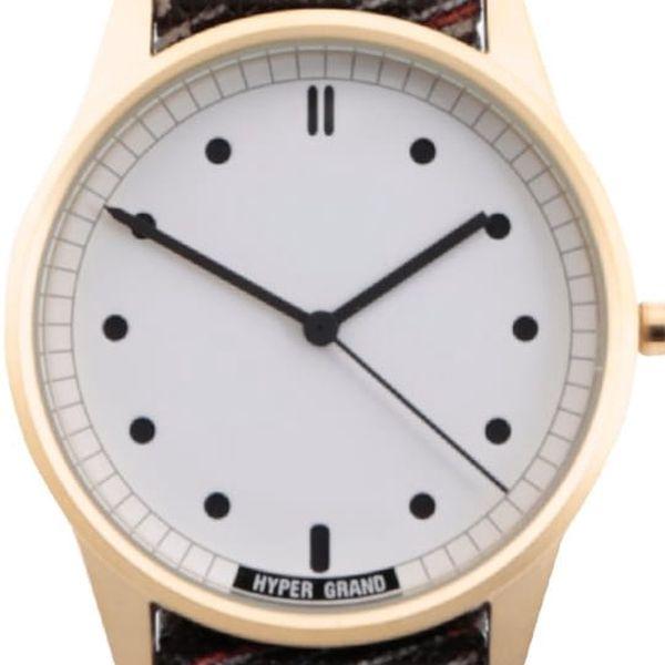 Pánské hodinky ve zlaté barvě HYPERGRAND