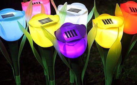 Solární LED světlo v podobě tulipánu - Žlutá