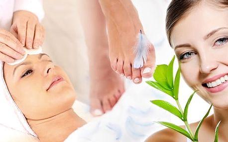 Kosmetický balíček pedikúry s lakováním a kosmetického ošetření pleti a dekoltu, ruční ošetření + neperoxidové bělení- v délce 2,5 - 3 hodin.