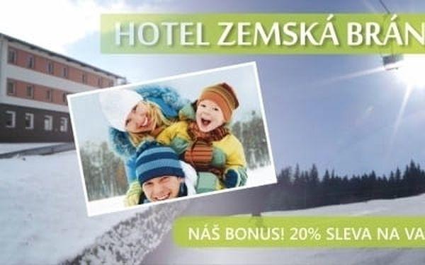 Zimní dárek na týden v hotelu Zemská brána s polopenzí v Orl.horách.