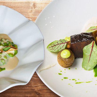 Moderní degustační menu o 5 chodech pro dva