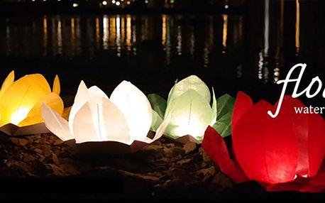 Vodní lampiony přání v sedmi barvách