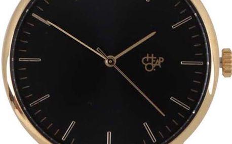 Unisex hodinky ve zlaté barvě Cheapo Nando Gold