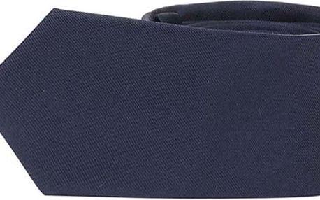 Tmavě modrá hedvábná kravata Selected Homme Plain