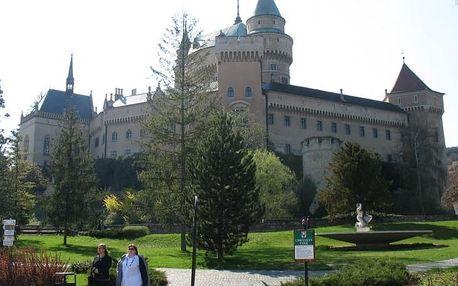 Romantické Bojnice. 3* hotel s polopenzí i wellness