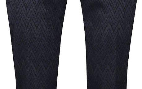 Tmavě modré osminkové formální kalhoty se vzorem Rich & Royal