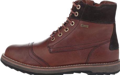 Hnědé pánské kožené kotníkové boty Geox Shoovy