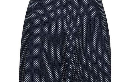 Tmavě modré puntíkované retro šaty s knoflíky Lazy Eye Marlen