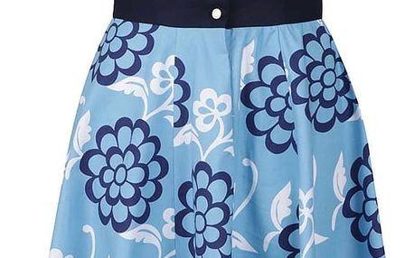 Tmavě modré retro šaty s motivem květů Lazy Eye Agnes
