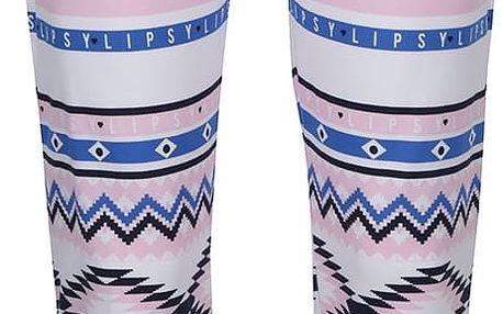 Modro-růžový vzorovaný spodní díl pyžama Lipsy