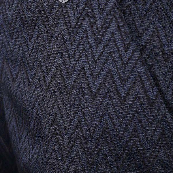 Tmavě modré osminkové formální kalhoty se vzorem Rich & Royal2