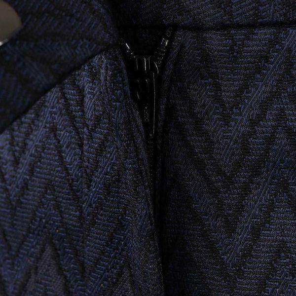 Tmavě modré osminkové formální kalhoty se vzorem Rich & Royal3