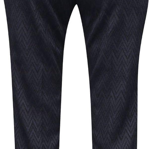 Tmavě modré osminkové formální kalhoty se vzorem Rich & Royal4