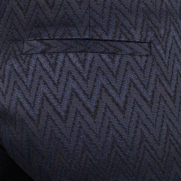 Tmavě modré osminkové formální kalhoty se vzorem Rich & Royal5