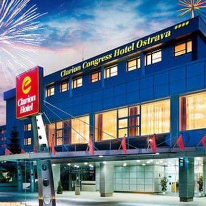 Luxusní 3denní silvestrovský pobyt v Clarion Congress Hotelu**** s wellness, velkolepou oslavou včetně večeře a programu
