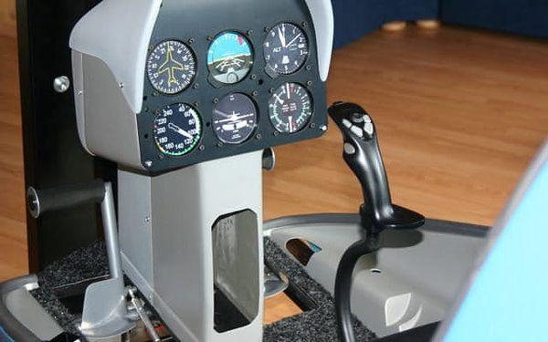 Staň se pilotem vrtulníku: Plně pohyblivý simulátor s 3D brýlemi4
