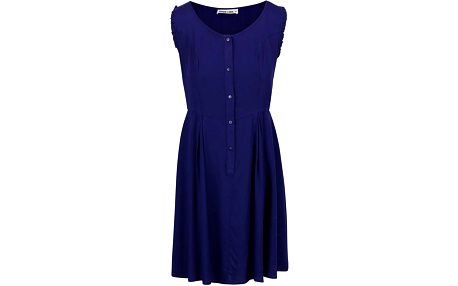 Fialové šaty s knoflíky GINGER+SOUL