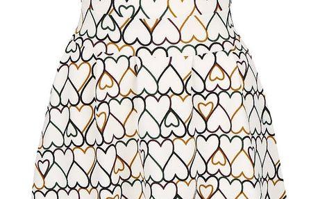 Krémové šaty se srdíčky Mela London