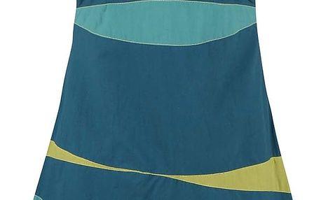 Tyrkysové šaty s barevnými pruhy Tranquillo Guarana