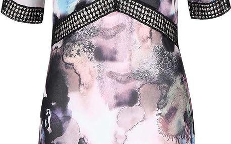 Krémové šaty s barevným vzorem Little Mistress
