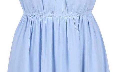 Světle modré šaty s límečkem GINGER+SOUL