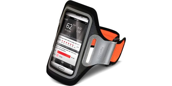 Pouzdro na mobil sportovní Celly Armband XXL (AIRBAND02) oranžové
