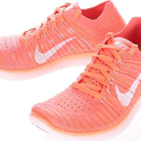 Neonově oranžové dámské tenisky Nike Free Flyknit2