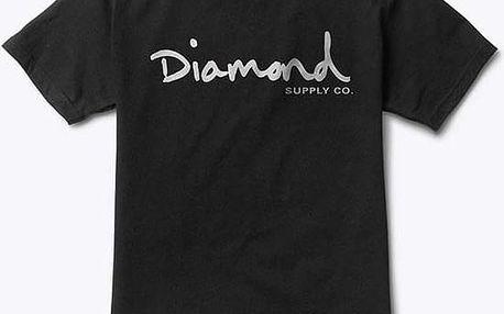 triko DIAMOND - Og Script Black (BLK) velikost: M