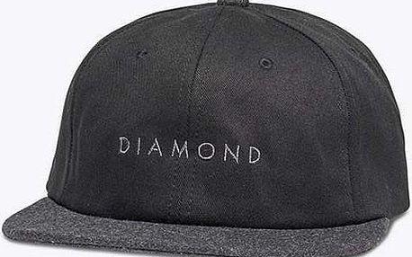 kšiltovka DIAMOND - Leeway Unstructured Black (BLK)