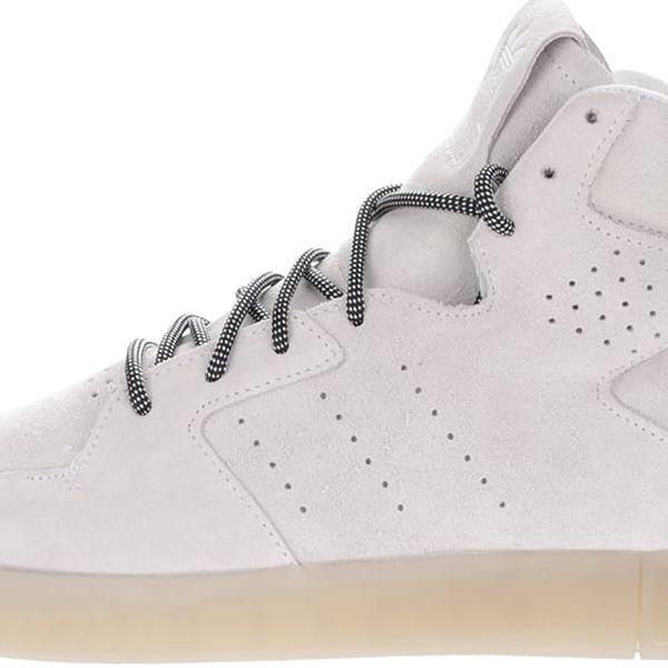 Krémové pánské kožené kotníkové tenisky adidas Originals Tubular Invader