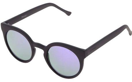 Černé unisex sluneční brýle s fialovým sklem Komono Lulu