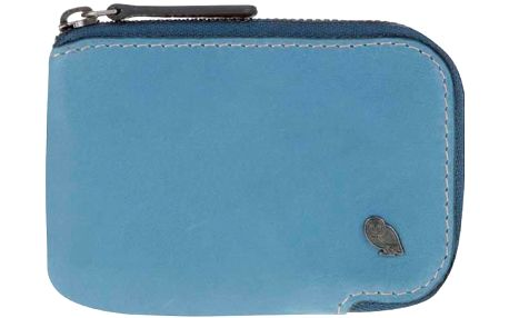 Modré kožené pouzdro na karty Bellroy Card Pocket
