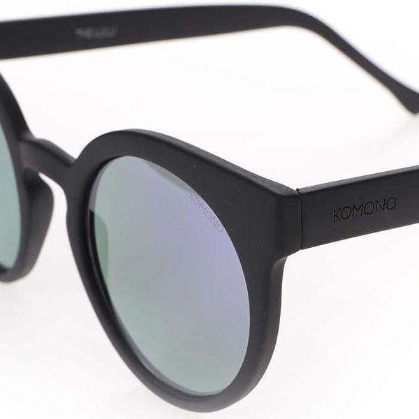 Černé unisex sluneční brýle s fialovým sklem Komono Lulu5