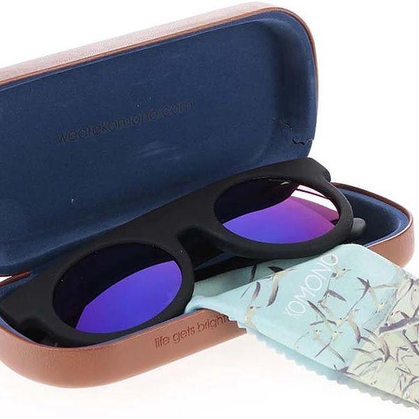 Černé unisex sluneční brýle Komono Hippolyte3