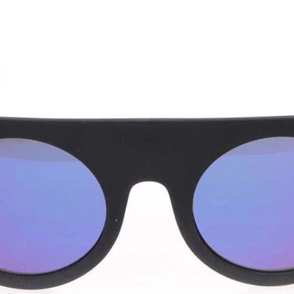 Černé unisex sluneční brýle Komono Hippolyte4