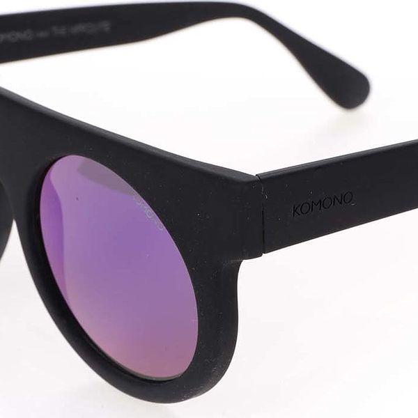 Černé unisex sluneční brýle Komono Hippolyte5