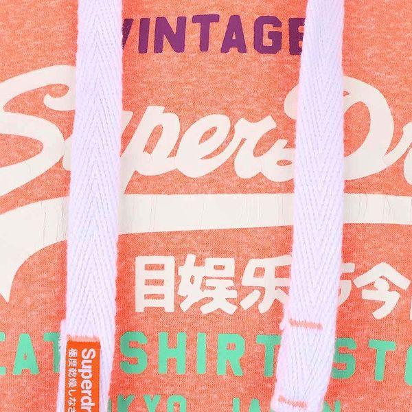 Korálová dámská mikina s nápisem a kapucí Superdry4