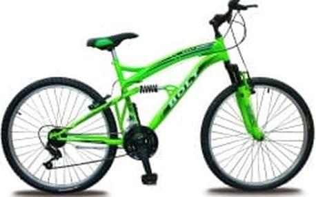 """BOLT 26"""" zelené celoodpružené horské kolo"""