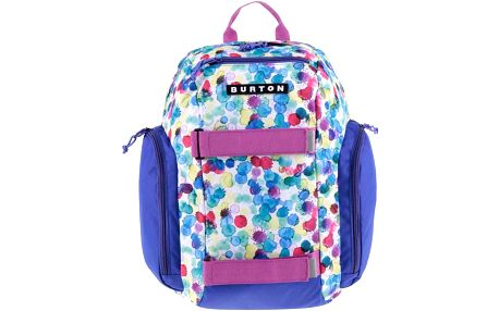 Bílo-fialový dětský batoh s barevnými puntíky Burton MetalHead