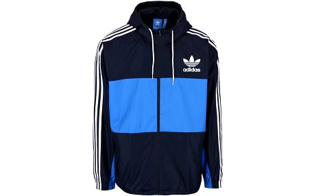 Modrá pánská bunda adidas s kapucí Originals