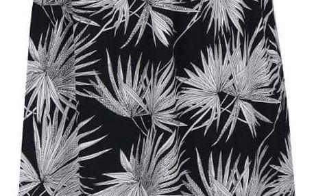 Černé dlouhé vzorované šaty na ramínka ICHI Ciffo