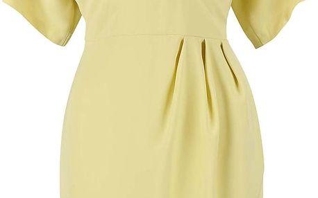 Světle žluté šaty s véčkovým výstřihem Closet