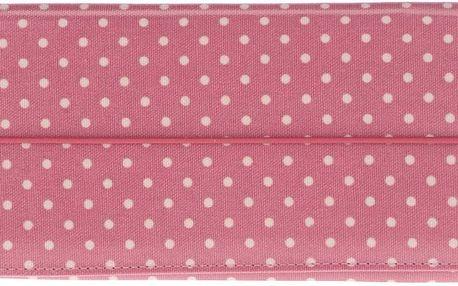 Růžové pouzdro na doklady s puntíky Cath Kidston