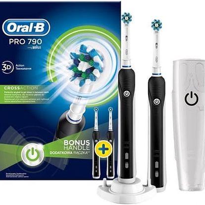 Zubní kartáček Oral-B Pro790 CrossAction černý/bílý