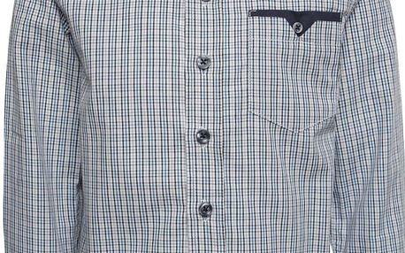 Bílo-modrá klučičí vzorovaná košile name it Pook