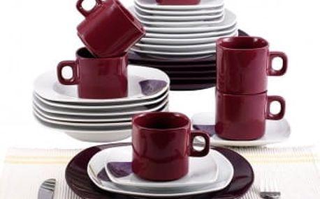 Jídelní sada nádobí 30 ks, fialová BLAUMANN BL-2037-4