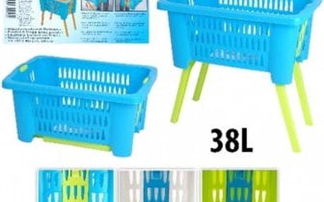 Koš na prádlo plastový 38 l skládací nohy 60x40x60 cm bílá ProGarden KO-Y54630210bila