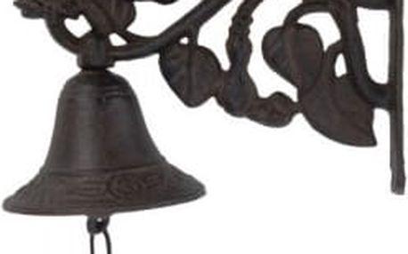 Zvonek nad dveře, květina, železný, hnědý EXCELLENT KO-CE7100530kvet