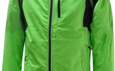 Pánská odlehčená softshellová bunda / vesta Envy KATTYN Green Black s